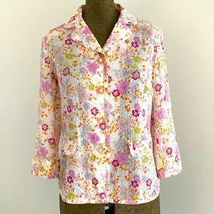 Vintage 80's seersucker cotton Jacket